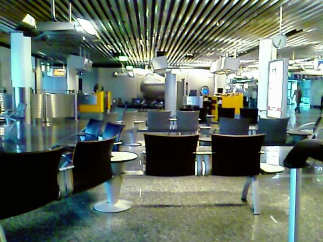 Frankfurt airport, 6:27AM, local