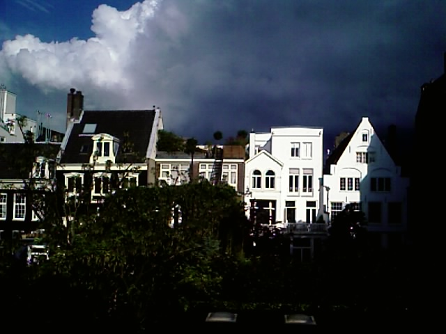 W+K amsterdam, view from the back porch, 7:12PM local