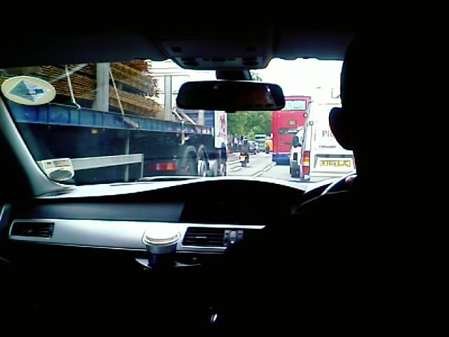 London, 1:48PM, stuck in traffic on the way to paddington