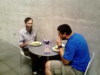 Arnaldo's 'Flatline' sandwiches at work