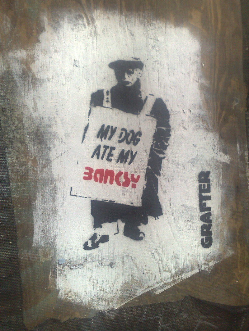 London Street Banksy riff